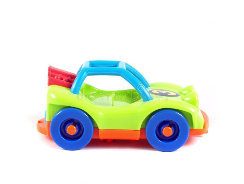 Coche brillantemente coloreado del juguete fotos de archivo libres de regalías