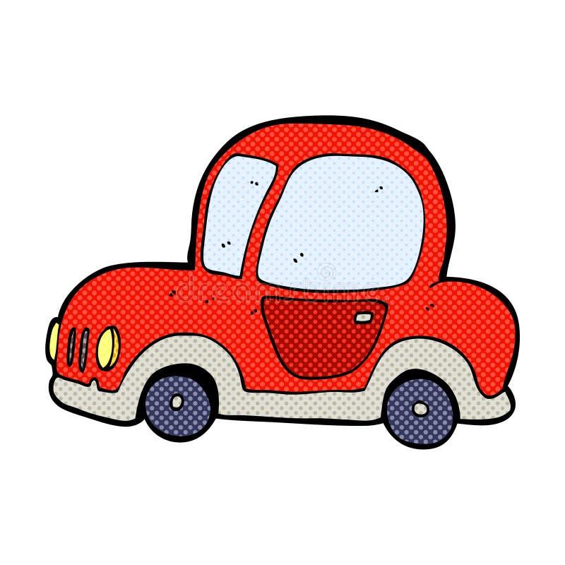 coche cómico de la historieta stock de ilustración