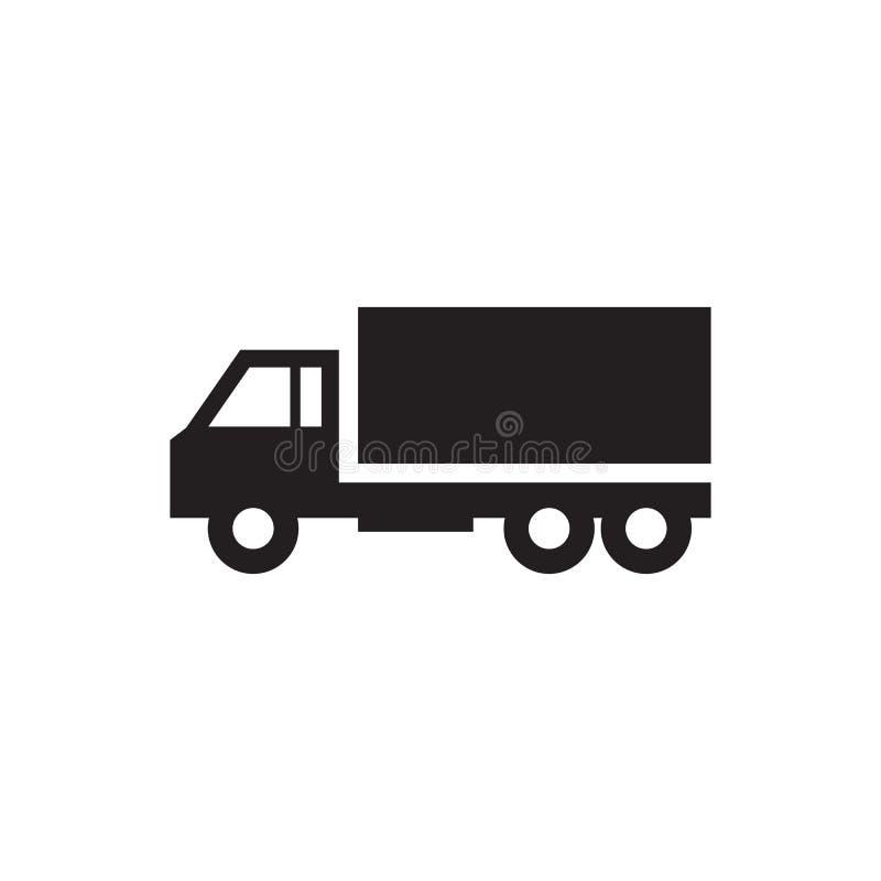 Coche camión - ejemplo del vector del icono en el fondo blanco Muestra del concepto del transporte Elemento del diseño gráfico stock de ilustración