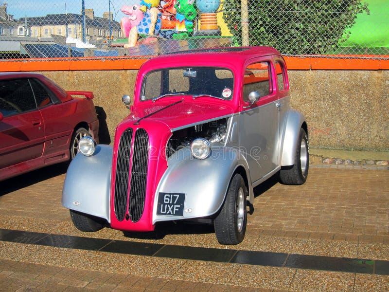 Coche clásico. Ford Popular. Modificado para requisitos particulares. foto de archivo libre de regalías