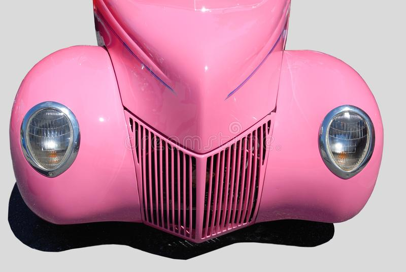 Coche clásico rosado fotografía de archivo libre de regalías