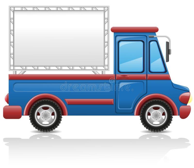 Coche con una ilustración del vector de la cartelera libre illustration