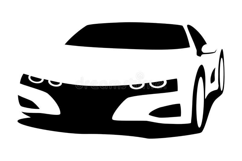 Coche de adaptación de la silueta libre illustration