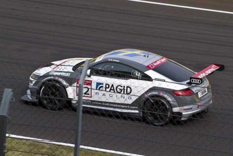 Coche de Audi DTM en raza foto de archivo libre de regalías