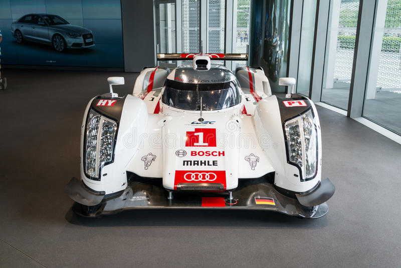 Coche de Audi R18 Le Mans imagen de archivo libre de regalías