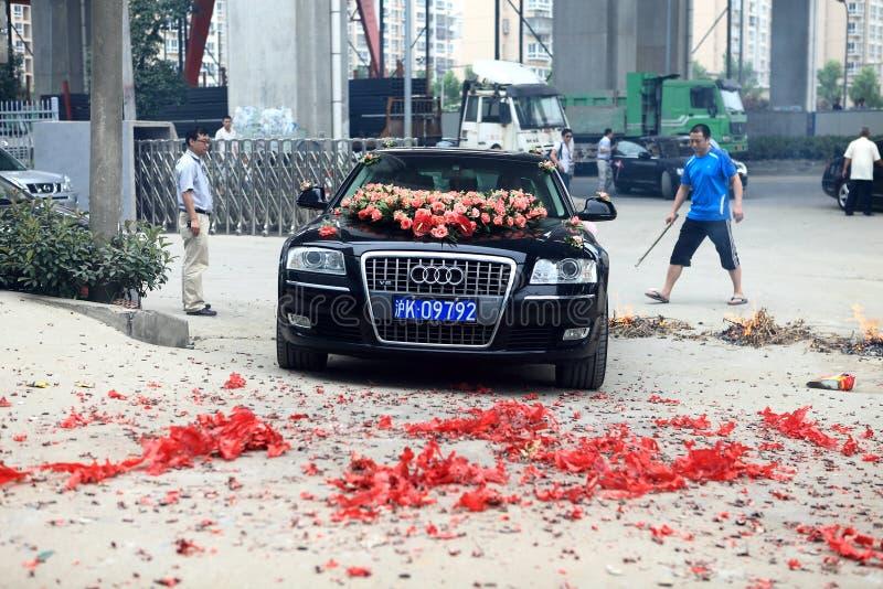 Coche de Audi Wedding imágenes de archivo libres de regalías