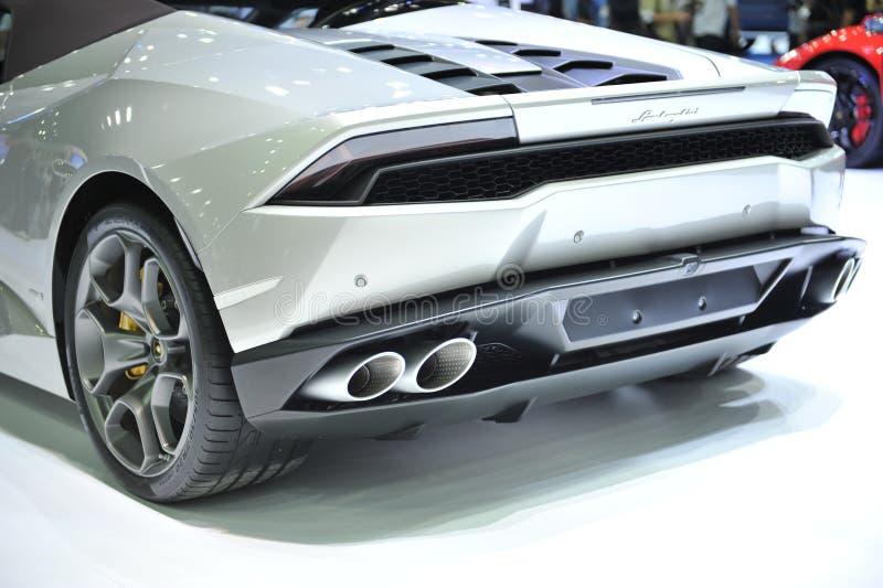 Coche de BANGKOK 1 DE DICIEMBRE Lamborghini en la 32da expo 2015 en december1, 2015 del motor fotos de archivo libres de regalías