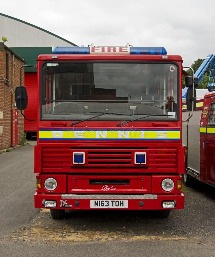 Coche de bomberos clásico de Dennis DS imagenes de archivo