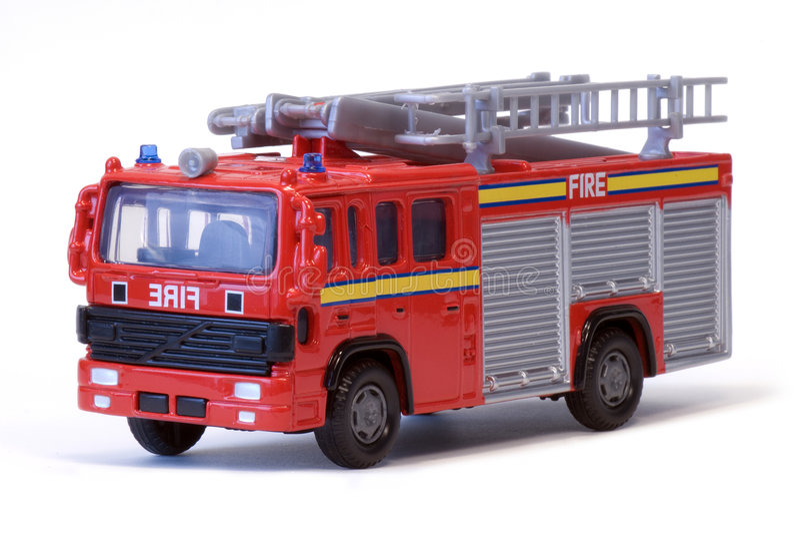 Coche de bomberos de Londres del juguete imagen de archivo