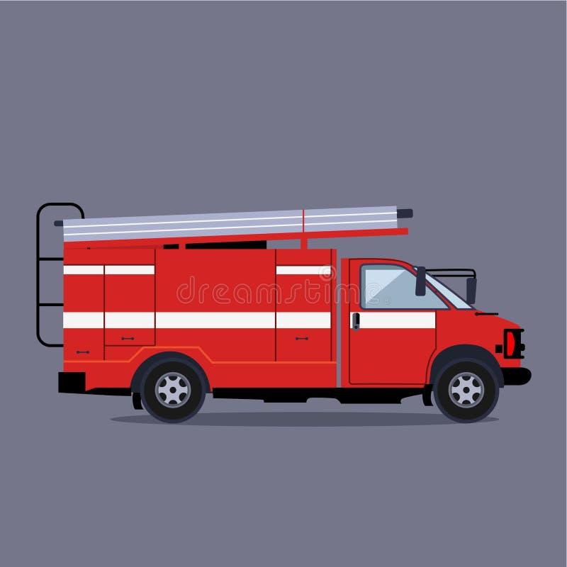 Coche de bomberos en acometida libre illustration