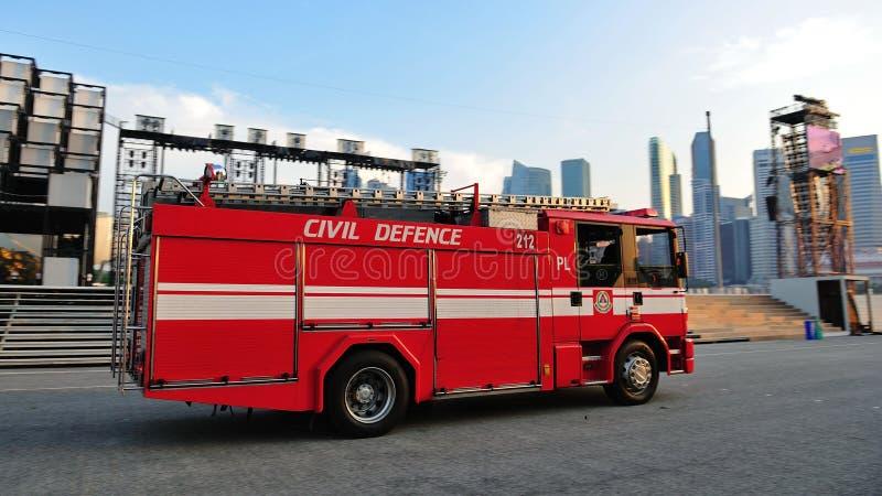 Coche de bomberos en NDP 2011 fotografía de archivo