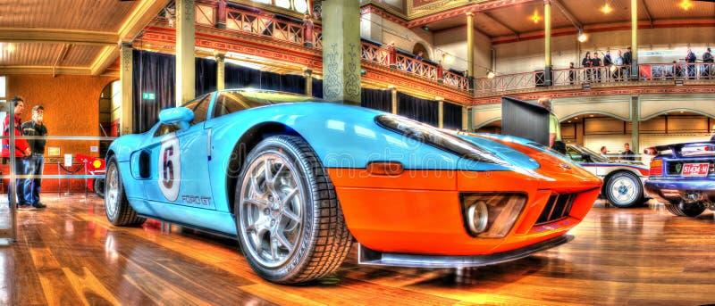 Coche de carreras de Ford GT fotos de archivo