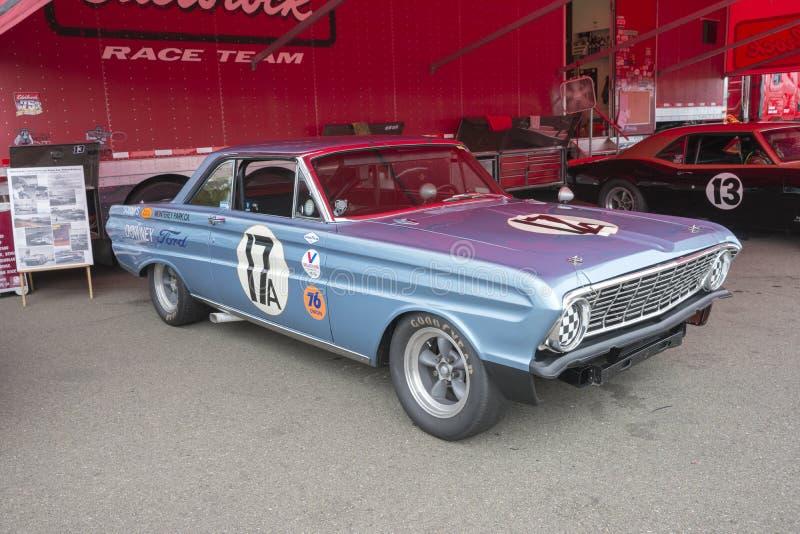 Coche de carreras del halcón de Ford fotografía de archivo
