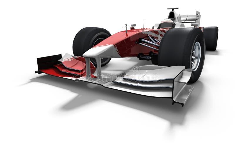 Coche de carreras - rojo y blanco ilustración del vector