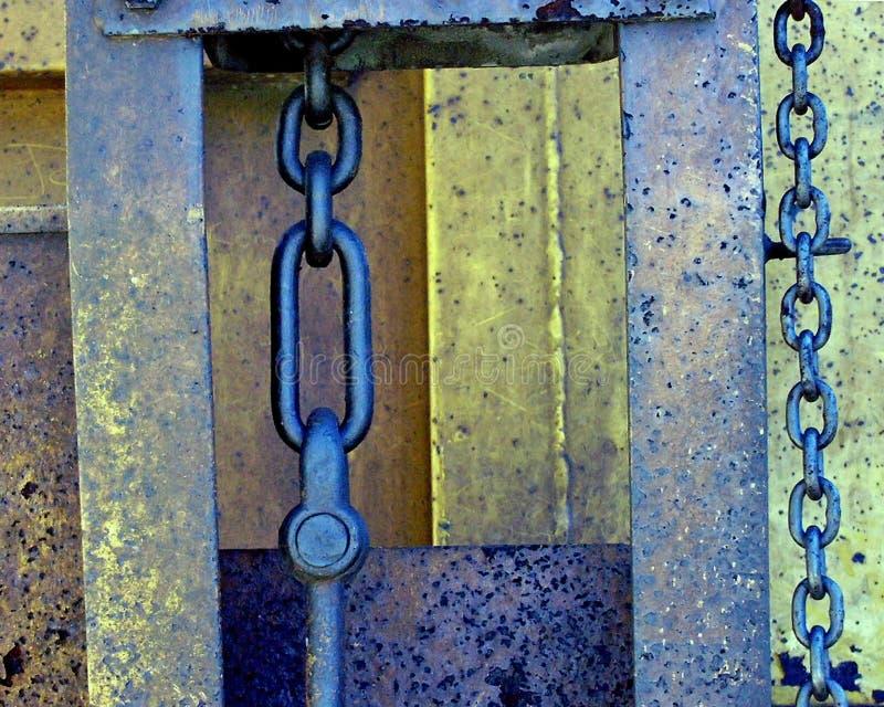 Coche de carril oxidado imagenes de archivo