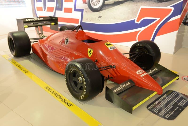 Coche de competición del Fórmula 1 de Ferrari F1 fotografía de archivo libre de regalías