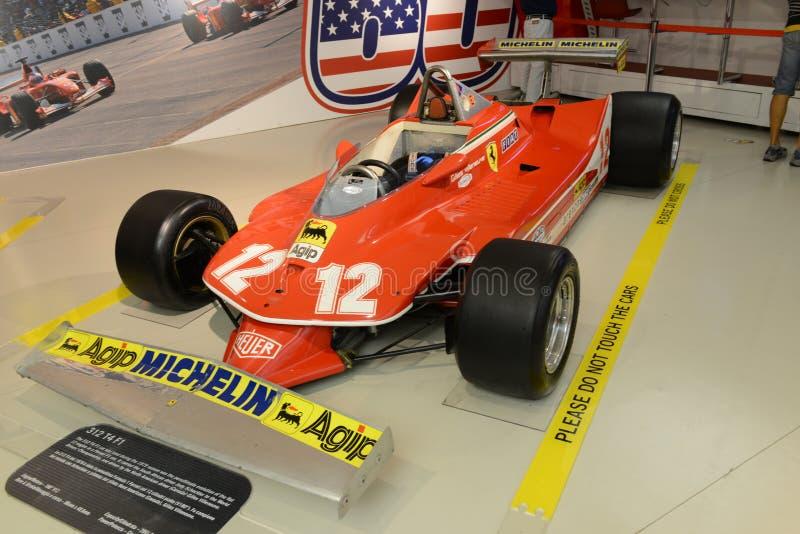 Coche de competición del Fórmula 1 de Ferrari 312 T4 F1 fotos de archivo libres de regalías