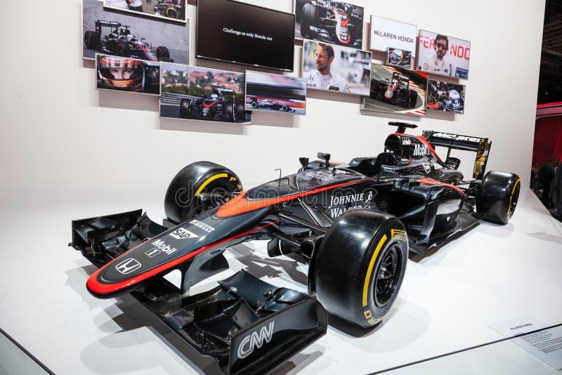 Coche de competición del Fórmula 1 de McLaren Honda imagen de archivo