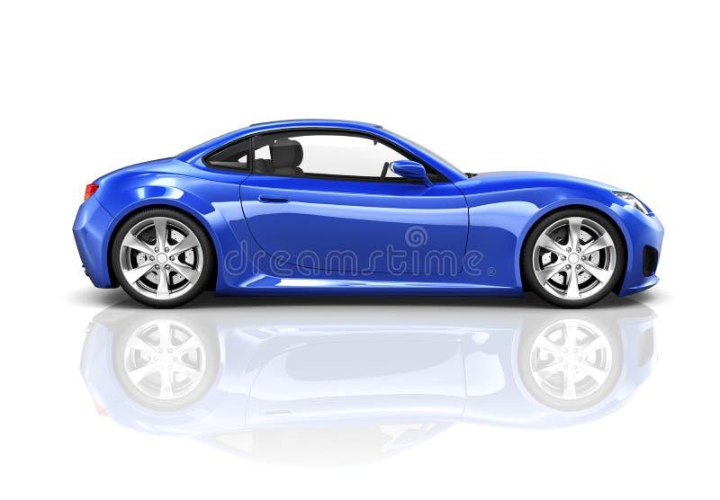 Coche de deportes de lujo del azul 3D fotografía de archivo