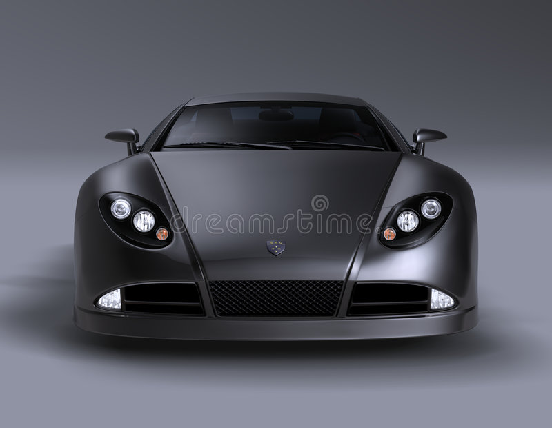Coche de deportes del coupé de GT 1 ilustración del vector