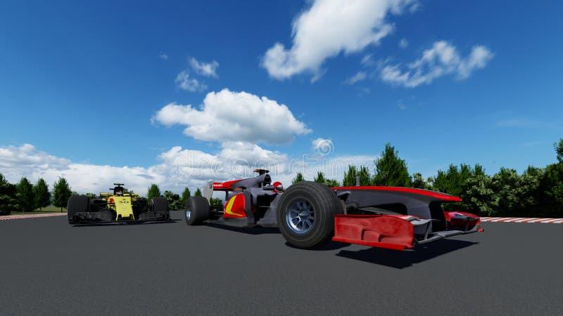 Coche de deportes F1 fotografía de archivo libre de regalías