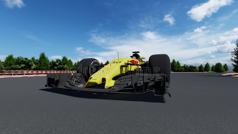 Coche de deportes F1 fotografía de archivo