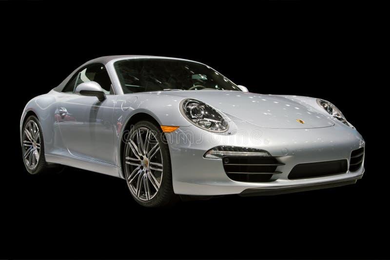 Coche de deportes, Porsche, salón del automóvil de Detroit imagen de archivo libre de regalías