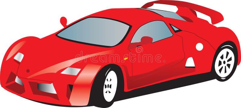 Coche de deportes rojo ilustración del vector