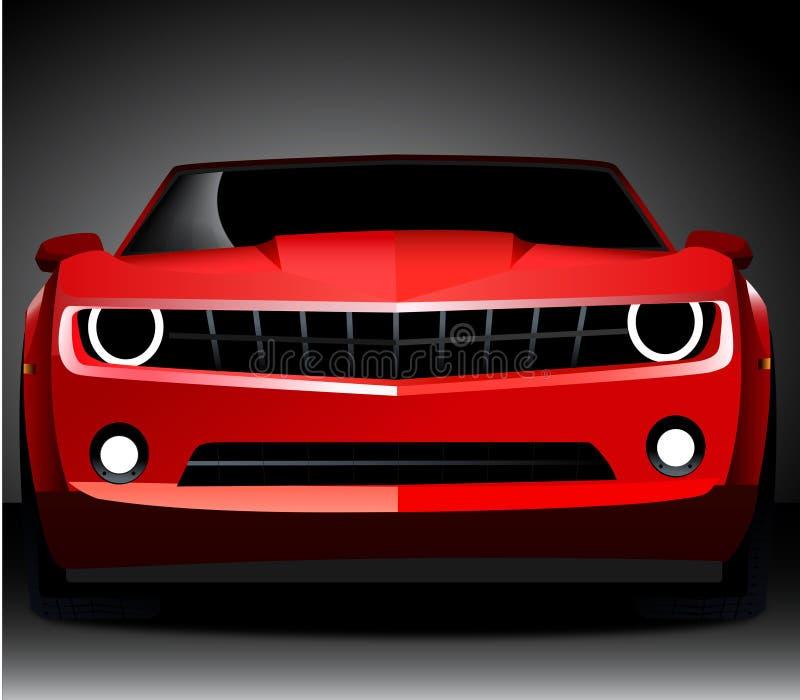 Coche de deportes rojo del camaro de Chevrolet stock de ilustración