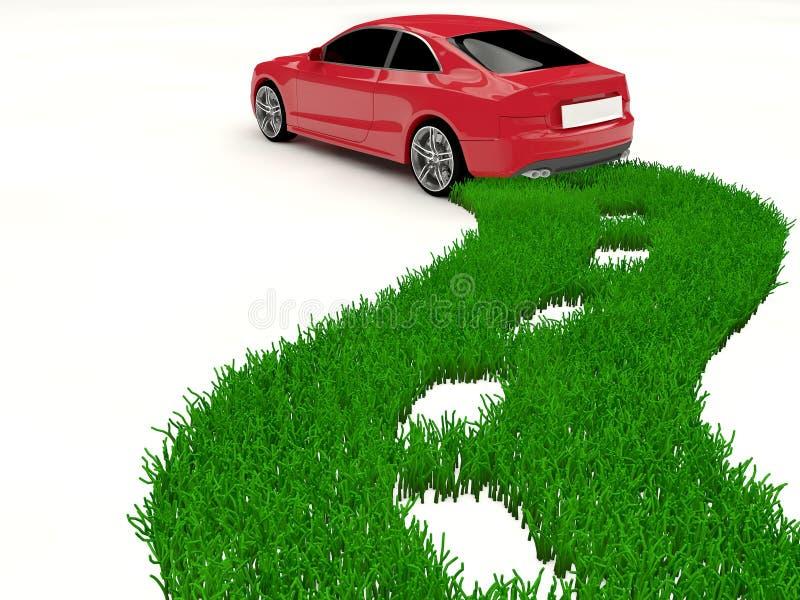 Coche del combustible alternativo - energía verde libre illustration