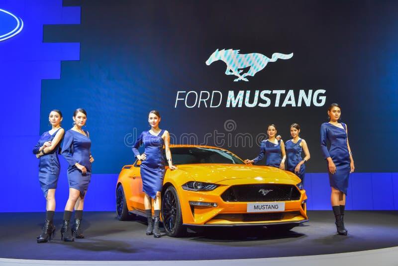 Coche de Ford Mustang en la exhibición en la 35ta Tailandia M internacional imagenes de archivo