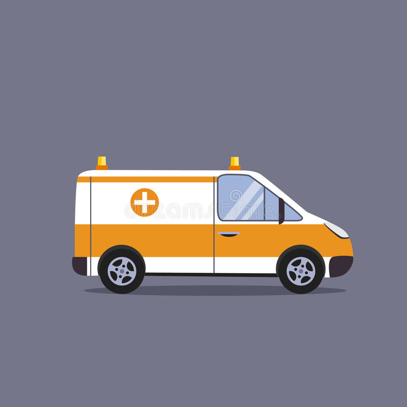 Coche de la ambulancia ilustración del vector