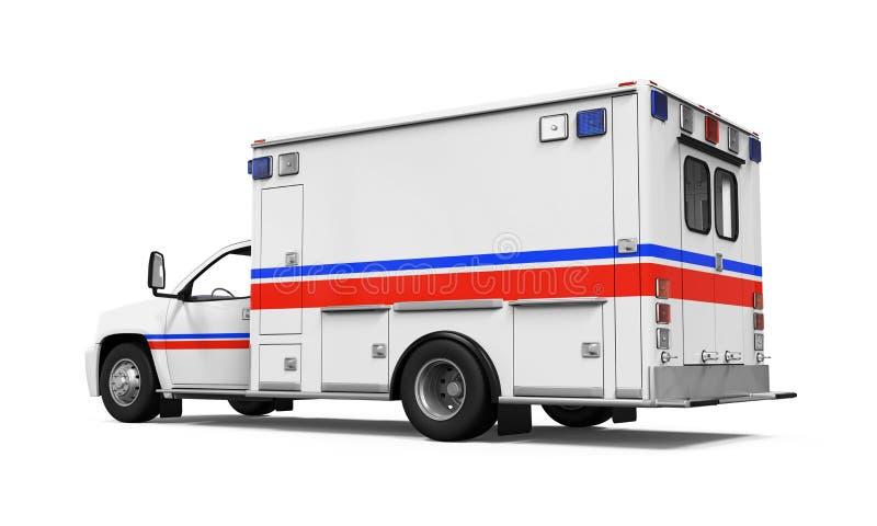 Coche de la ambulancia aislado ilustración del vector