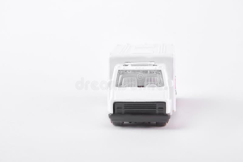 Coche de la ambulancia del juguete, vista delantera foto de archivo libre de regalías