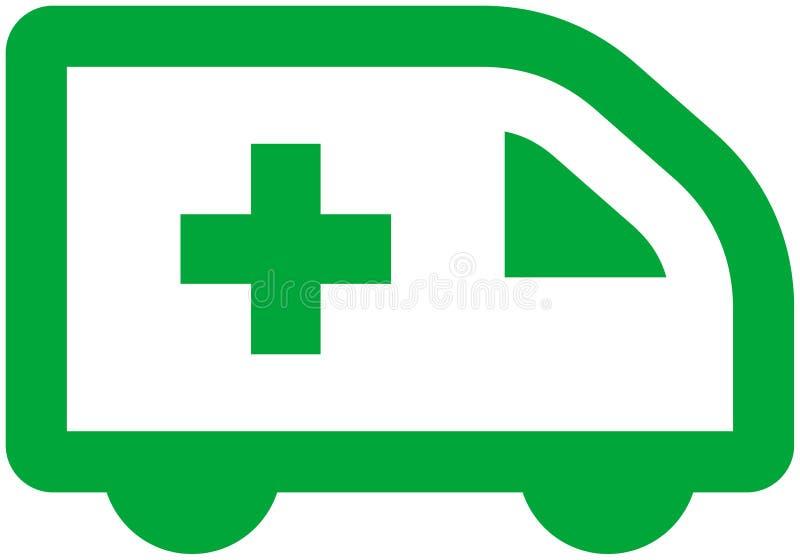 Coche de la ambulancia del vector stock de ilustración