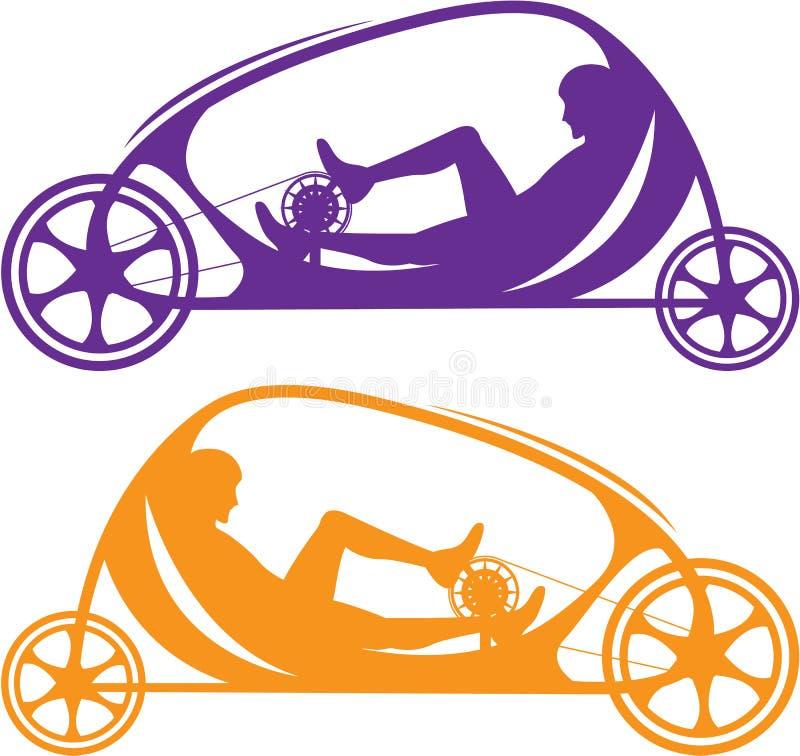 Coche de la bicicleta stock de ilustración