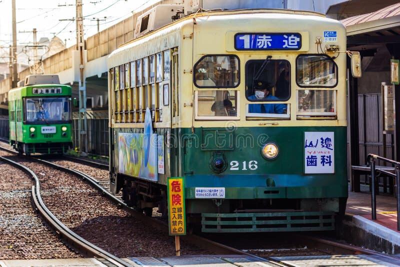 Coche de la calle en Nagasaki foto de archivo libre de regalías