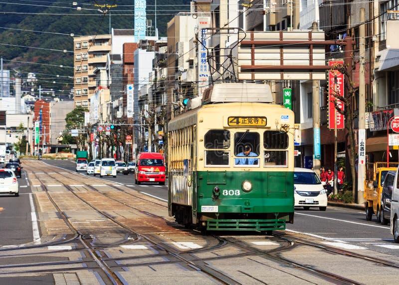 Coche de la calle en Nagasaki imagen de archivo libre de regalías