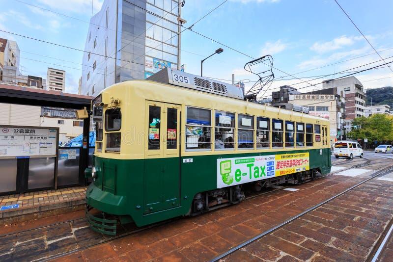 Coche de la calle en Nagasaki foto de archivo