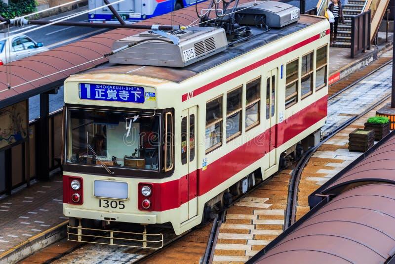 Coche de la calle en Nagasaki fotos de archivo libres de regalías