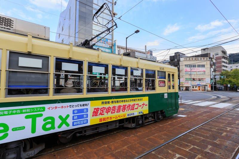 Coche de la calle en Nagasaki imágenes de archivo libres de regalías