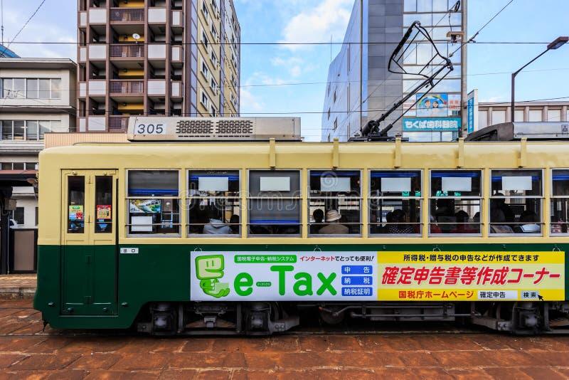 Coche de la calle en Nagasaki fotografía de archivo libre de regalías