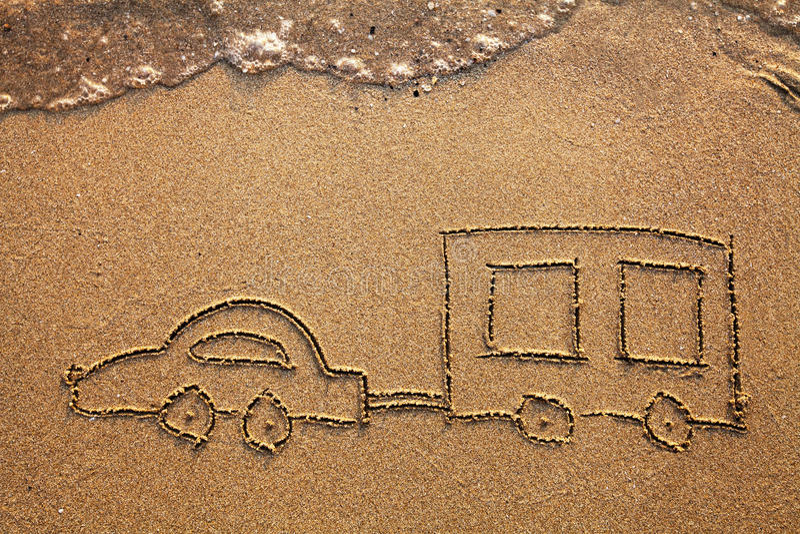 Coche de la caravana foto de archivo libre de regalías