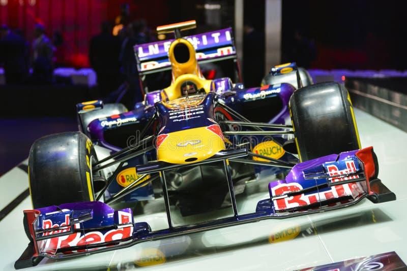 Coche de la fórmula 1 de Red Bull fotografía de archivo
