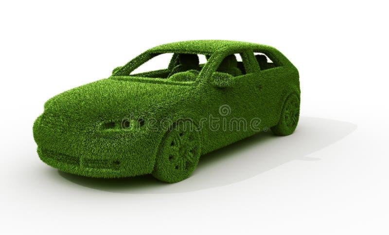 Coche de la hierba verde stock de ilustración
