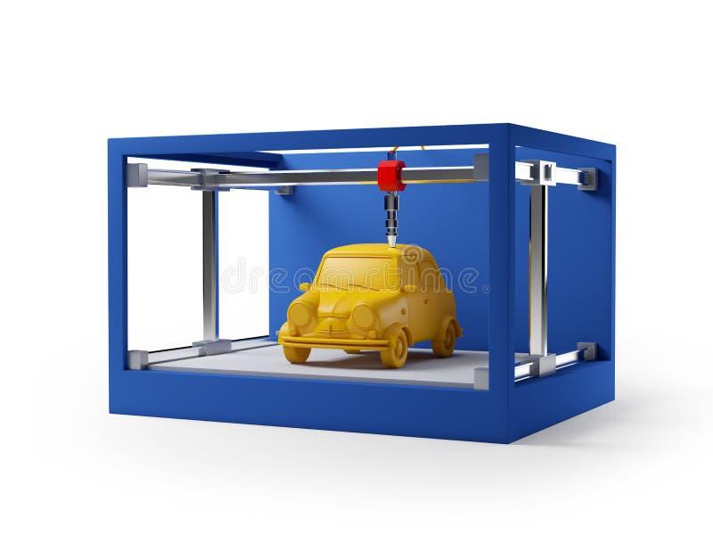 coche de la impresión 3d libre illustration