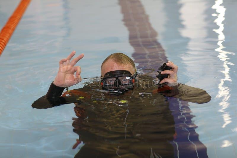 Coche de la nadada fotos de archivo
