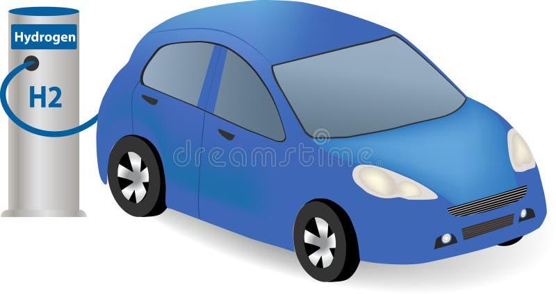Coche de la pila de combustible del hidrógeno stock de ilustración