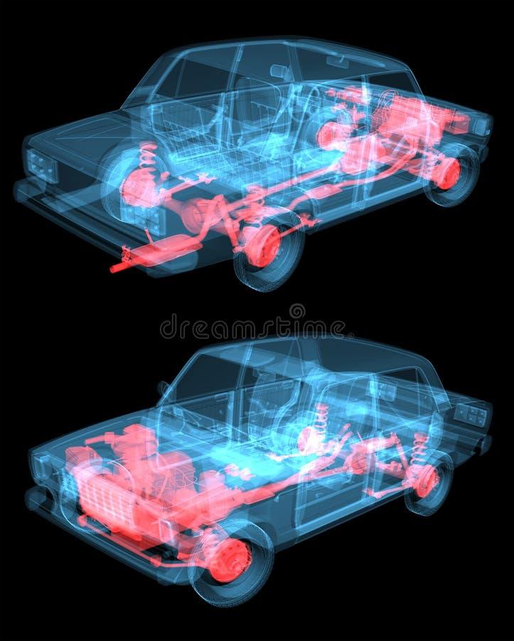 Coche de la radiografía ilustración del vector