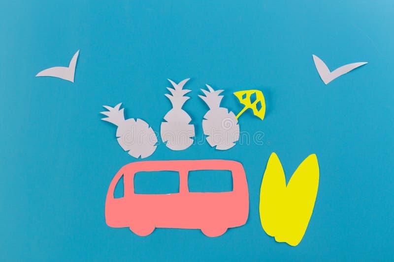 coche de la resaca en la playa foto de archivo libre de regalías